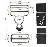 Пряжка-застежка металлическая + регулятор для комбинезонов