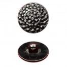 Пуговица металлизированная, 28L, цвет черный