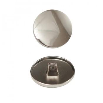 Пуговица металлическая, 20L, цвет никель, на ножке