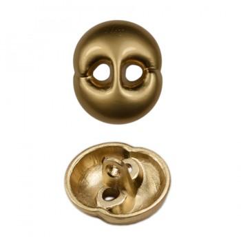 Пуговица металлическая, 28L, цвет матовое золото