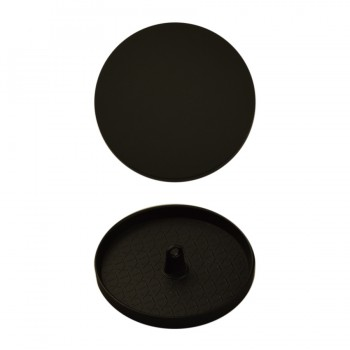 Пуговица металлическая, 62L, цвет черный тач