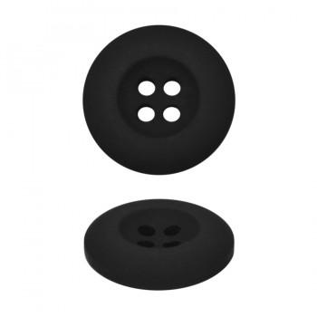 Пуговица пластиковая, 44L, цвет черный тач