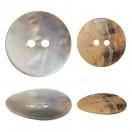 Пуговица из натуральных материалов, ракушка, 24L, цвет перламутр, 2 прокола