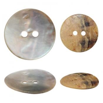 Пуговица из натуральных материалов, ракушка, 40L, цвет перламутр, 2 прокола