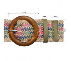 Ремень женский плетеный