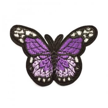 Аппликация клеевая, вышивка текстильная,   Бабочка , цвет фиолетовый