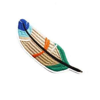 Аппликация клеевая, вышивка текстильная,   Перо , цвет разноцветный