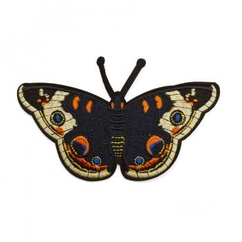 Аппликация клеевая, вышивка текстильная,   Бабочка , цвет т.синий