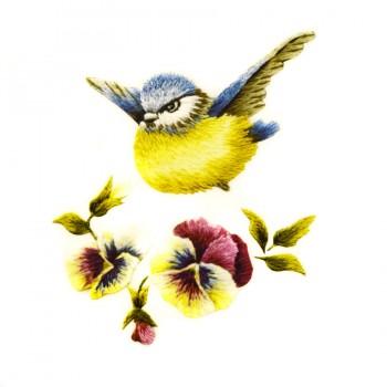 Аппликация клеевая, принт,  Птица , цвет разноцветный