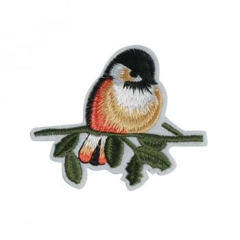 Аппликация клеевая, вышивка текстильная,  Птичка , цвет разноцветный
