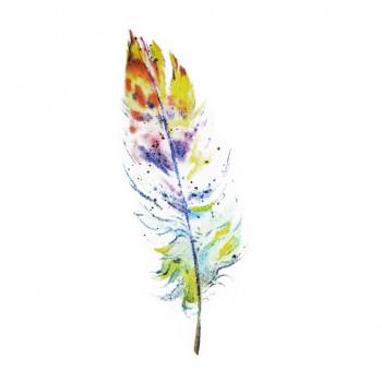 Аппликация клеевая, принт,  Перо , цвет разноцветный