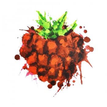 Аппликация клеевая, принт,  Клубничка , цвет красный+зеленый