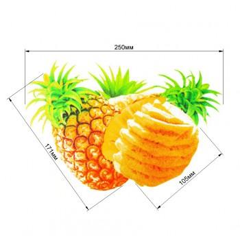 Аппликация клеевая, принт,  Три ананаса , цвет разноцветный