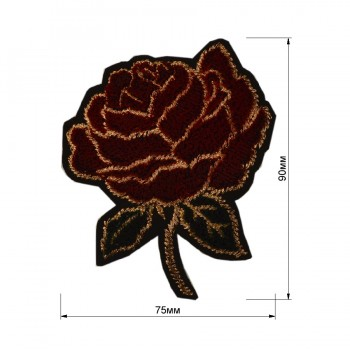 Аппликация клеевая, бархат+текстиль,  Роза , цвет разноцветный