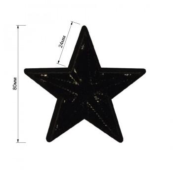 Аппликация клеевая, бархат,  Звезда , цвет черный