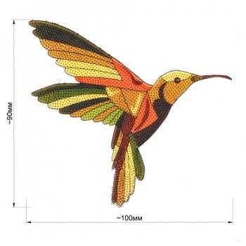 Аппликация клеевая, силикон,   Птичка , цвет разноцветный