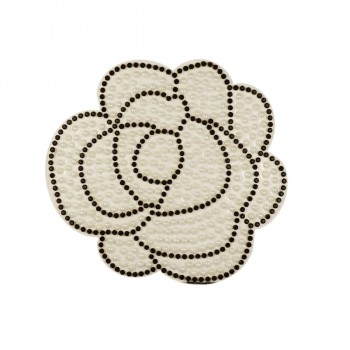 Аппликация клеевая  Роза  текстиль