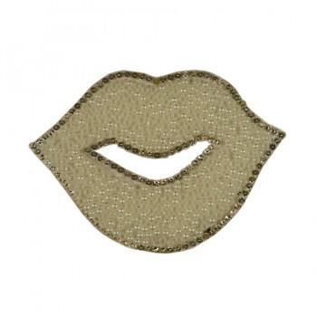 Аппликация клеевая  Губы  текстиль