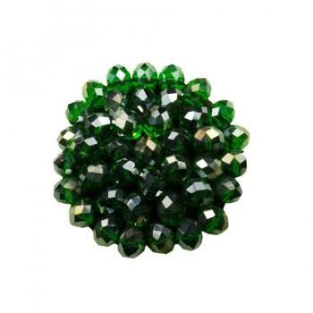 Аппликация пришивная, цвет зеленый