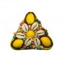 Нашивка-аппликация, треугольник, цвет желтый