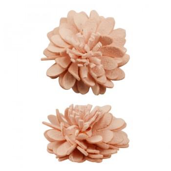 Аппликация пришивная,   Орхидея , цвет розовый