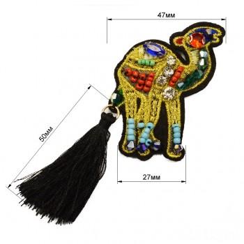 Аппликация пришивная,   Верблюд , цвет разноцветный
