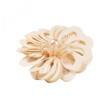 Аппликация пришивная,  Цветок , цвет белый