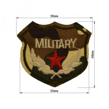 Аппликация клеевая, вышивка текстильная, military, цвет разноцветный