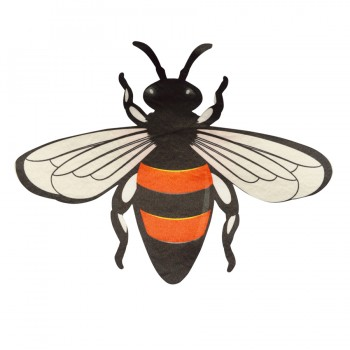Аппликация клеевая, бархат  пчелка