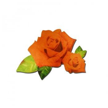 Аппликация клеевая, сатин,  Две розы , цвет разноцветный