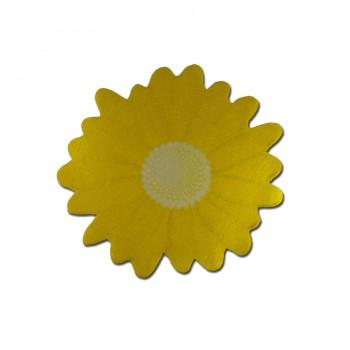 Аппликация клеевая, сатин,  Ромашка , желтый