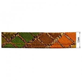 Кант декоративый, цвет оранжевый+разноцветный