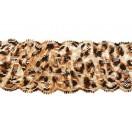 Кружево синтетич., цвет леопард