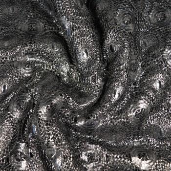 Кружево синтетич. плетеное, цвет черный