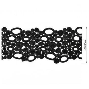 Кружево синтетич., цвет черный