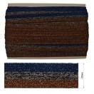 Тесьма отделочная с люрексом, цвет  темно-синий+серый+коричневый