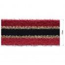Тесьма отделочная с люрексом, цвет красныйй+черный