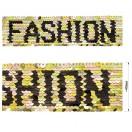 Тесьма отделочная c пайетками, Fashion, цвет золото+никель