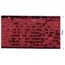 Тесьма отделочная c пайетками, цвет красный