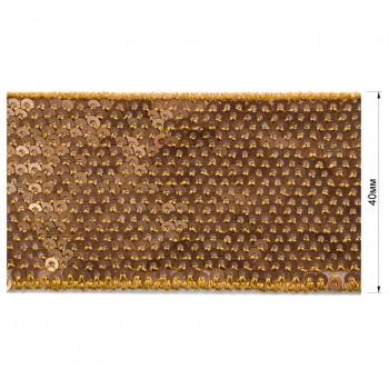 Тесьма отделочная c пайетками, цвет золото