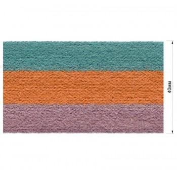 Тесьма отделочная, цвет грязно-розовый+оранжевый+бирюза