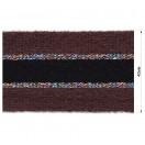 Тесьма отделочная с люрексом, цвет коричневый+черный