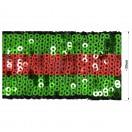 Тесьма отделочная из пайеток, цвет зеленый+красный