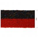 Тесьма отделочная c люрексом, цвет красный+разноцветный