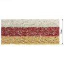 Тесьма отделочная c люрексом, цвет серый+красный+песочный