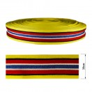Тесьма отделочная c люрексом, цвет желтый+красный+синий
