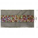 Тесьма декоративная из бисера, цвет разноцветный