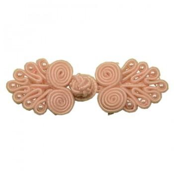 Декоративная застежка, клевант текстильный, цвет св.розовый