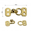 Декоративная застежка, крючок металлический, 8*18мм,цвет золото