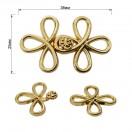 Декоративная застежка, крючок металлический, 25*40мм, цвет золото
